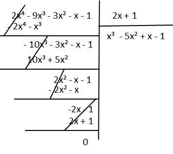 división de polinomios P(x) entre Q(x)