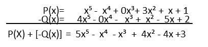 resta de polinomios P(x)-Q(x)